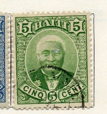 Haiti 1887 Early Issue Fine Used 5c. 100924