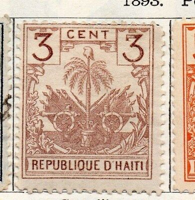 Haiti 1893 Early Issue Fine Mint Hinged 3c. 100931