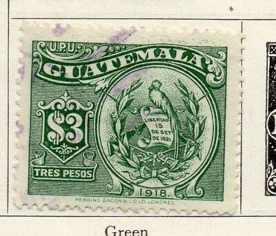 Guatemala 1925 Early Issue Fine Used $3. 100941