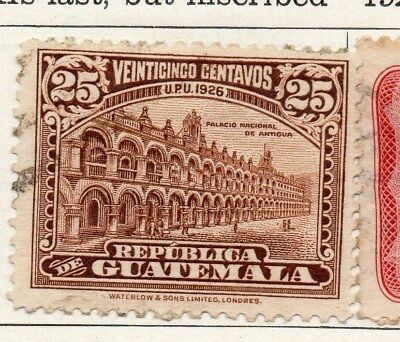 Guatemala 1926 Early Issue Fine Used 25c. 100943