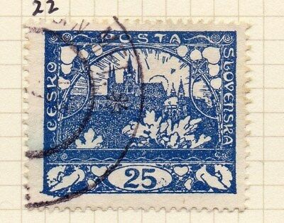 Czechoslovakia 1919 Early Issue Fine Used 25h. 100996