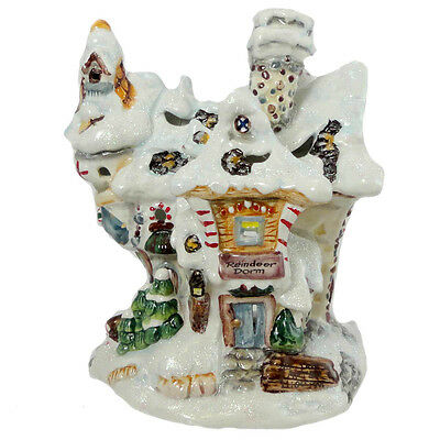 Boyds Bears Resin FRICKELFROST DORMITORY Ceramic Christmas Twinkles 395053 RFB
