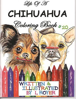 Chihuahua Coloring Book #20 Author Artist Illustrator L Royer Autographed