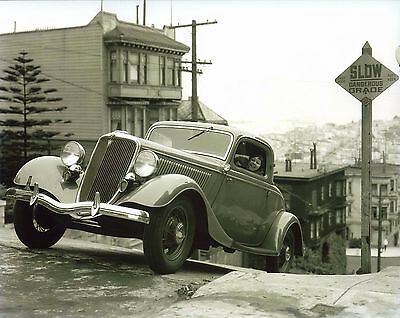 1933/1934 Ford Coupe 8X10 Photo