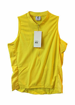 7f0b9349d942c2 new L Cannondale Cadence women s sleeveless cycling jersey yellow Made in  USA