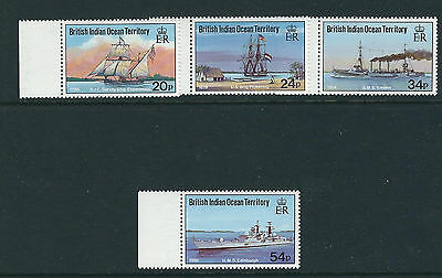 BRITISH INDIAN OCEAN TERRITORY BIOT 1991 VISITING SHIPS (Scott 115-118) VF MNH