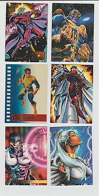 Lot of 6 assorted Marvel trading cards