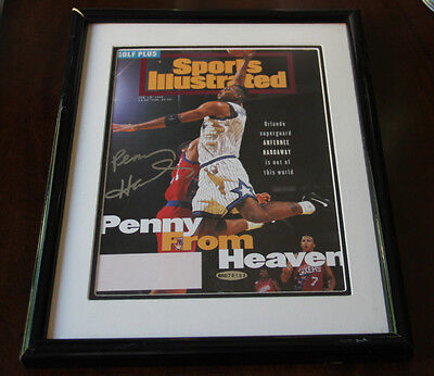 Anfernee Hardaway Signed Autographed Framed Si Cover Uda Authentic #bad78168