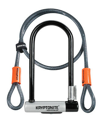 Kryptonite Kryptolok Series 2 STD with 4' Flex Bicycle Cycling U Lock and Cable