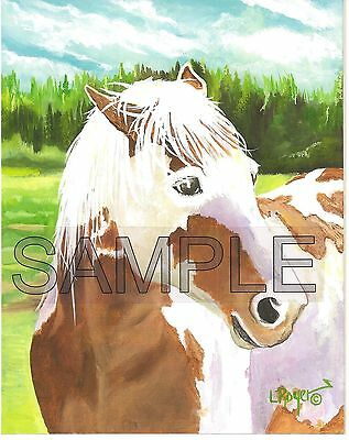 Horse Original Oil Painting 11X14 L Royer #396 Certificate Of Authenticity