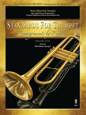 Standards for Trumpet Vol 5 Sheet Music Minus One Play-Along Book CD Pack NEW