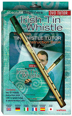Absolute Beginners Irish Tin Whistle Lessons Learn to Play Video Book DVD NEW