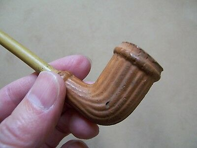 Authentic Circa 1840's Point Pleasant Trade Pipe With Original Reed Stem