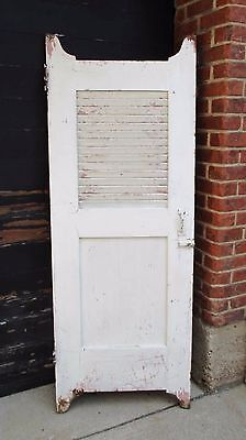 Vintage Wood Architectural Paint Swinging Louvers Shabby Cafe/Bar/Saloon DOOR