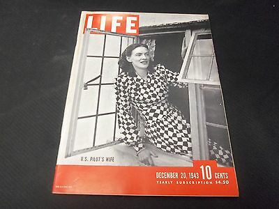 1943 December 20 Life Magazine - Us Pilot's Wife Front Cover - Great Ads - O6480