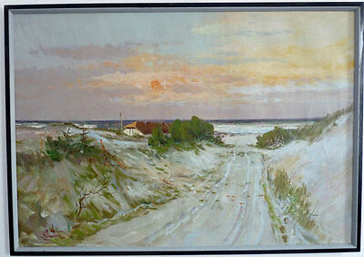 Away by the Dunes, Impressionist, Middle 20th Century