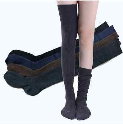 Women Soft Winter Cable Knit Over knee Long Boot Thigh-High Warm Socks Leggings