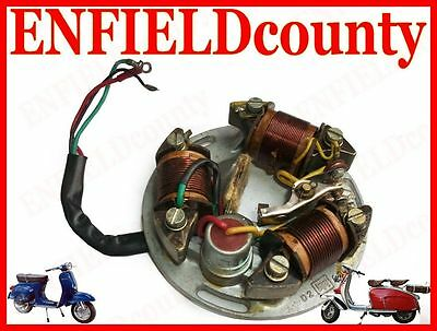 New Vespa 12V Conversion Stator Plate Points Type Sprint Vbb Super @cad