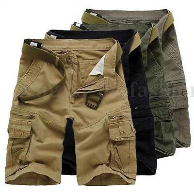 Summer Mens Casual Army Combat Camo Work Cargo Shorts Pants Trousers