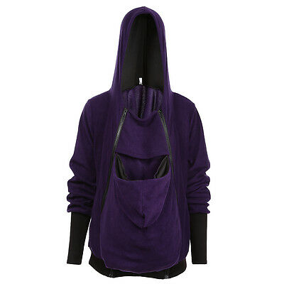 Maternity Warm Hoodies Outwear Pregnant Women Clothes Baby Carrier Kangaroo Coat