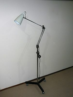 Retro Rare Large Planet Floor Lamp On Castors From Doctors Surgery Or Hospital