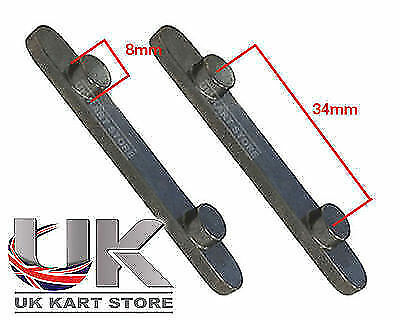 Pair of Senzo Pegged Axle Keys 8mm x 34mm TonyKart / OTK / UK KART STORE