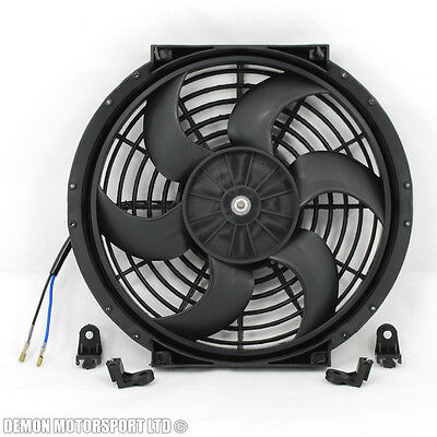 "10"" Inch Fan Universal Electric 12v Slim Fan For Intercooler Radiator Oil Cooler"