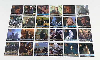 2002 Artbox Lord of the Rings Fellowship of the Ring Action Flipz Set (24)