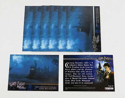 Lot of (8) 2004 Artbox Harry Potter Prisoner of Azkaban Update Promo Card (01)