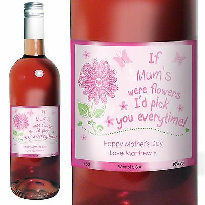 Personalised I'd Pick You Rose Wine - Mother's Day Gift, Aunt, Mummy, Friend