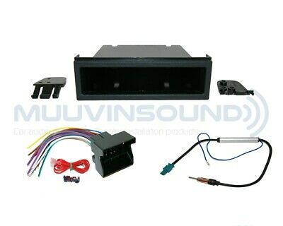 Radio Stereo Installation Dash Kit Combo Single DIN + Wire Harness + Antenna V1