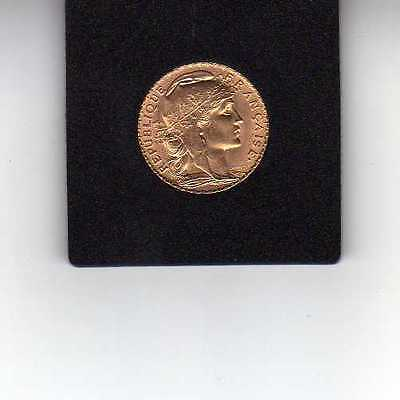 France 20 Francs Or Coq Marianne 1914 - Gold coin