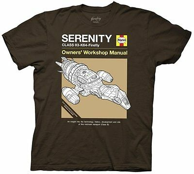 Serenity Movie / Firefly Haynes Owners' Workshop Manual Cover T-Shirt NEW UNWORN