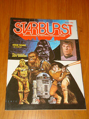 Starburst #1 British Sci-Fi Monthly Magazine January 1978 Star Wars