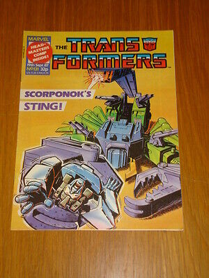 Transformers British Weekly #131 Marvel Uk Comic 1987