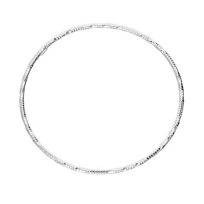 Real 925 Sterling Silver Diamond Cut Twist Bangle Summer Spring Textured