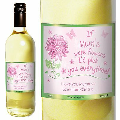 Personalised White Wine I'd Pick You - Mother's Day - Aunt, Mum, Sister, Friend