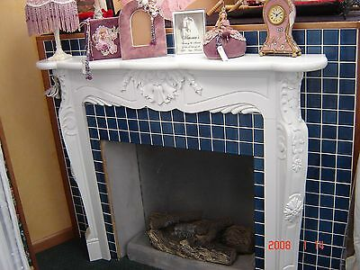 NEW Antique style wood mantel painted white - lovely accent to a fireplace!
