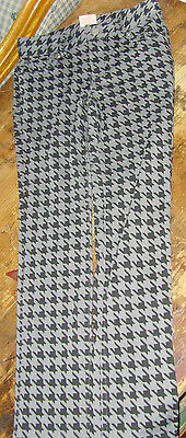 GUC Faded Glory size 6 6x leggings pants gray and black fall houndstooth fashion