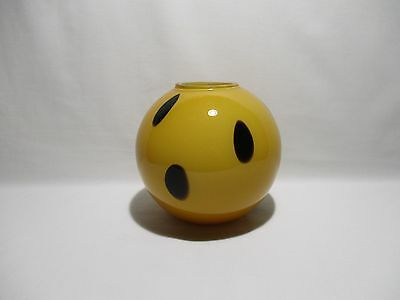 Vase Boule En Verre Souffle Orange Et Noire Glass Vase Ball Design Vintage