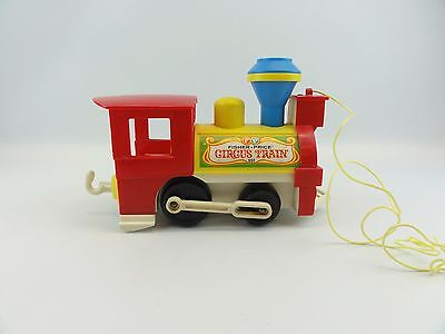 Fisher Price #991 Circus Train Vintage 1973 Little People Pull Toy Whistles