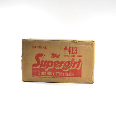 1984 Topps Supergirl EMPTY Wax Box Case #413 24/36 ct.