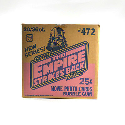 1980 Topps Star Wars The Empire Strikes Back EMPTY Wax Box Case #472 20/36 ct.