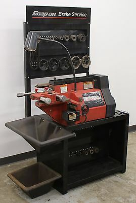 Snap On Tools EEBR308A Disc and Drum Brake Lathe w/ Stand & Adapters Ammco 1000