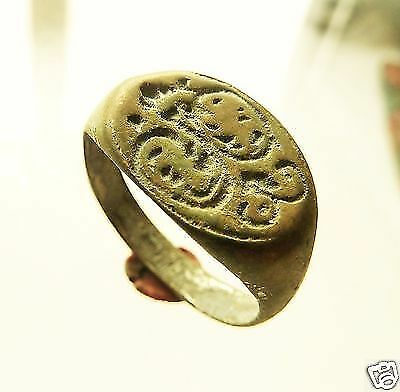 Post-medieval bronze seal-ring with pseudo heraldic image (440).