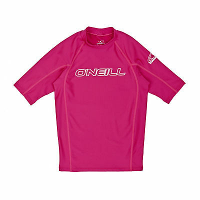 O'Neill Rash Vests - O'Neill YOUTH BASIC SKINS S/S CREW  - WATERMELON