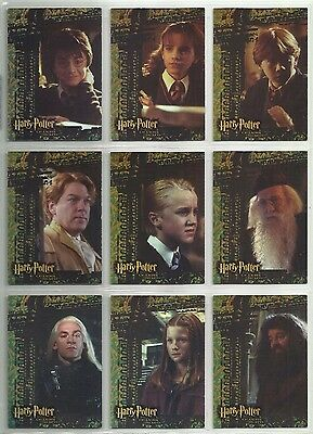 2006 Harry Potter: Chamber of Secrets FOIL Complete Set of 9 Chase Cards (R1-R9)