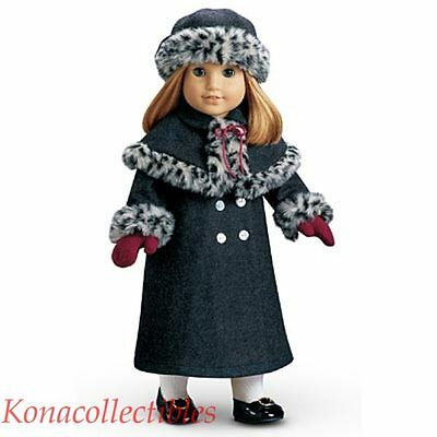 American Girl Nellie Holiday Coat & Hat New! Warm!