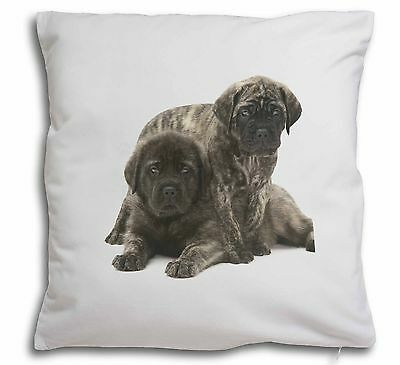 Bullmastiff Dog Puppies Soft Velvet Feel Scatter Cushion Christmas , AD-BMT2-CPW