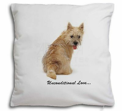 Cairn Terrier Dog With Love Soft Velvet Feel Scatter Cushion Christ, AD-CT1u-CPW